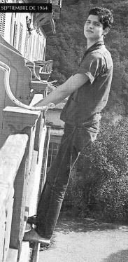 Carlos Cano en Suiza, en agosto de 1964   carloscano.es