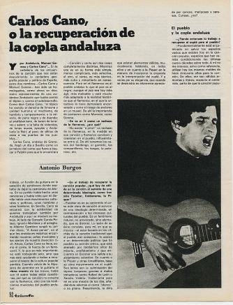 Carlos Cano o la recuperación de la copla andaluza | carloscano.es