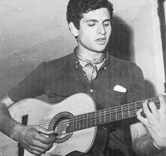 Carlos Cano durante su primera actuación, 1968 | carloscano.es