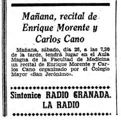 recital enrique morente y carlos cano en granada